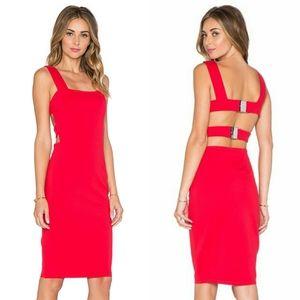 Lavish Alice Harness Strap Detail Bodycon Dress